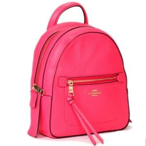 NWT Pink Coach Andi Mini Backpack